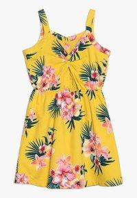 Abercrombie & Fitch - BUTTON THRU DRESS - Denní šaty - yellow floral - 1