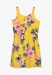 Abercrombie & Fitch - BUTTON THRU DRESS - Denní šaty - yellow floral - 3