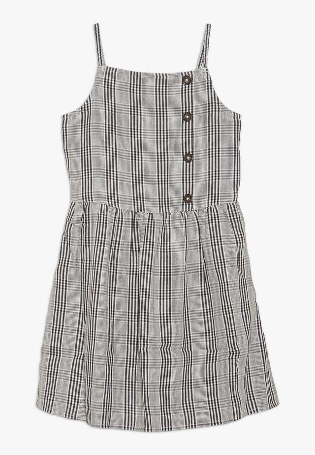 ASSYM BUTTON THRU DRESS - Freizeitkleid - white/black
