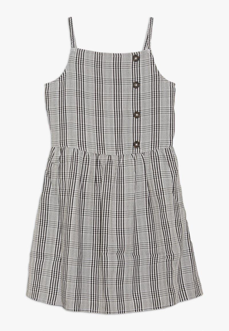 Abercrombie & Fitch - ASSYM BUTTON THRU DRESS - Day dress - white/black