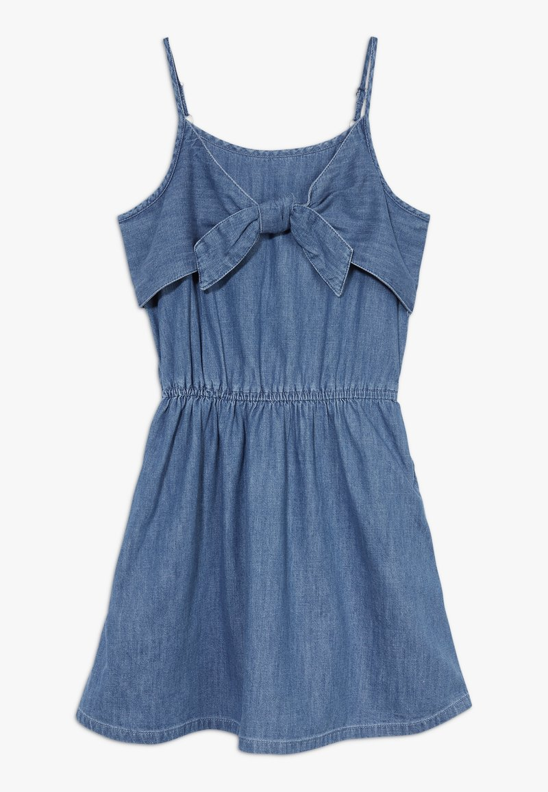 Abercrombie & Fitch - TIE FRONT DRESS  - Day dress - blue