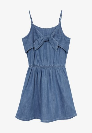TIE FRONT DRESS  - Vestido informal - blue