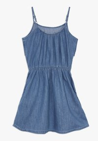 Abercrombie & Fitch - TIE FRONT DRESS  - Day dress - blue - 1