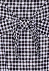 Abercrombie & Fitch - TIE FRONT DRESS  - Day dress - black - 2