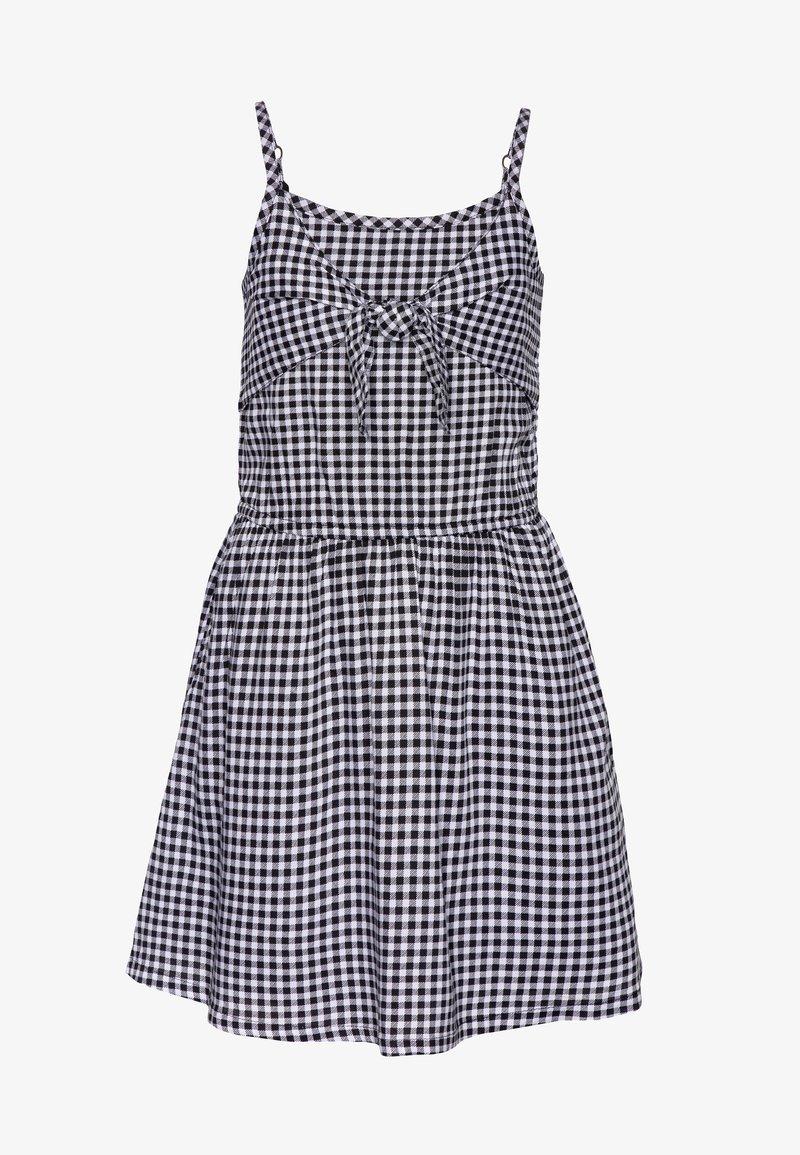Abercrombie & Fitch - TIE FRONT DRESS  - Day dress - black