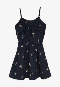 Abercrombie & Fitch - TIE DRESS  - Korte jurk - black - 3