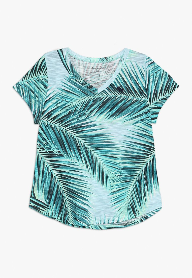 Abercrombie & Fitch - PATTERN EASY V NECK - T-shirt print - turquoise