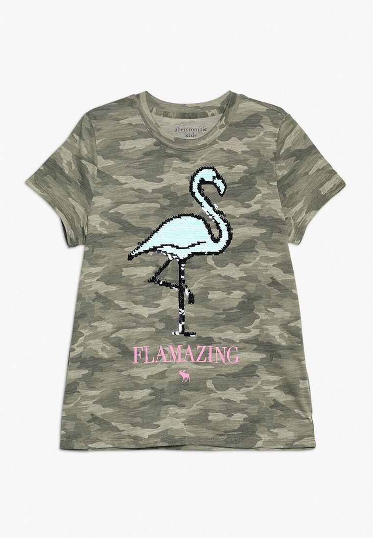 Abercrombie & Fitch - JAN NONLOGO NOVELTY  - T-shirt con stampa - khaki
