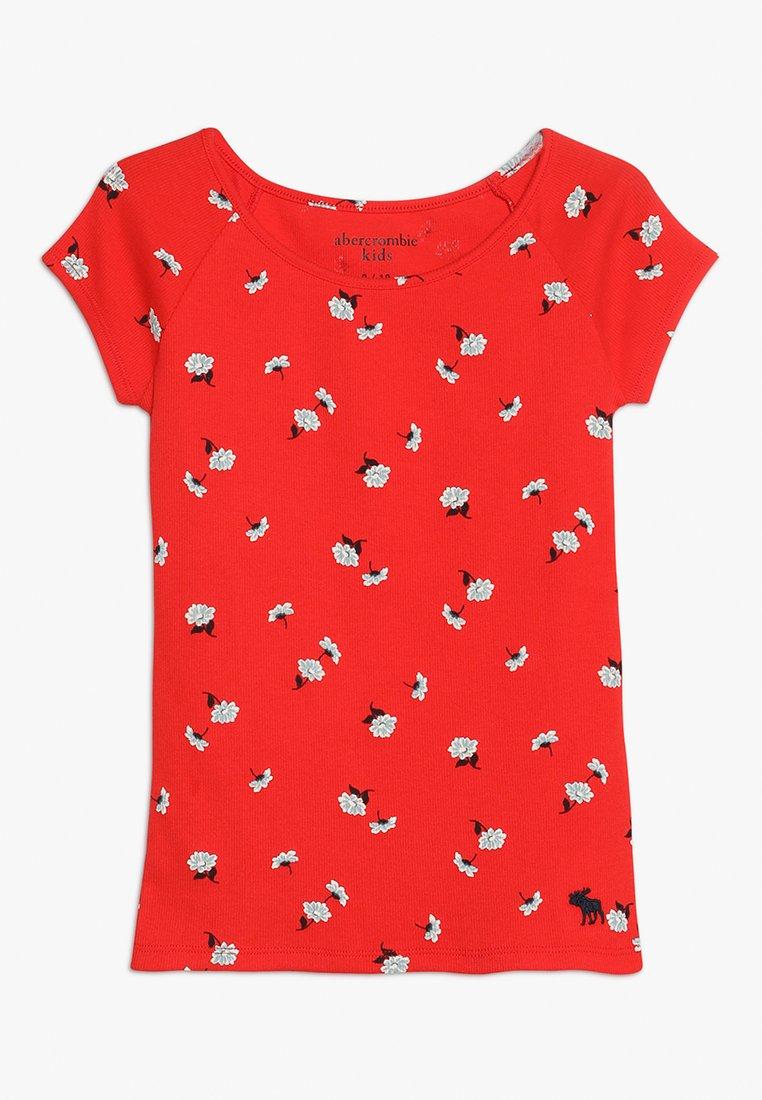 Abercrombie & Fitch - PATTERN TEE - Camiseta estampada - red