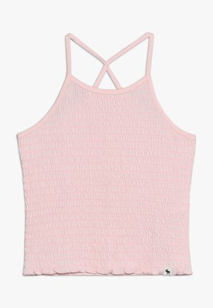 SMOCKED HIGH NECK TANK  - Top - rose quartz