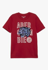 Abercrombie & Fitch - NOVELTY  - Print T-shirt - red - 0