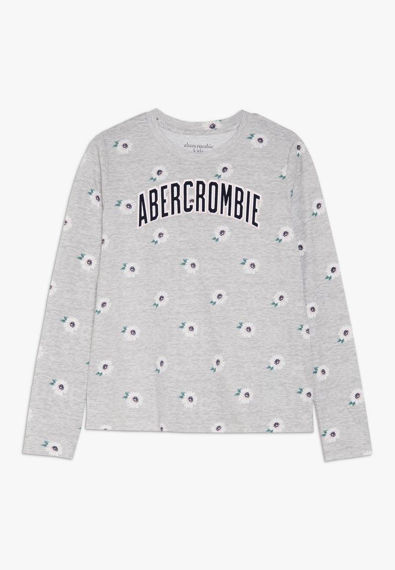 Abercrombie & Fitch - LOGO PATTERN CREW - Top sdlouhým rukávem - grey