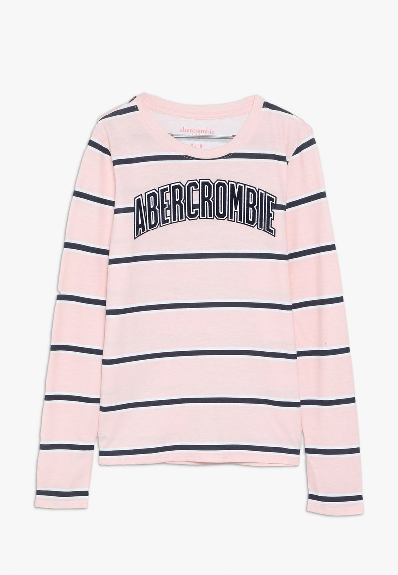 Abercrombie & Fitch - LOGO PATTERN CREW - Long sleeved top - pink