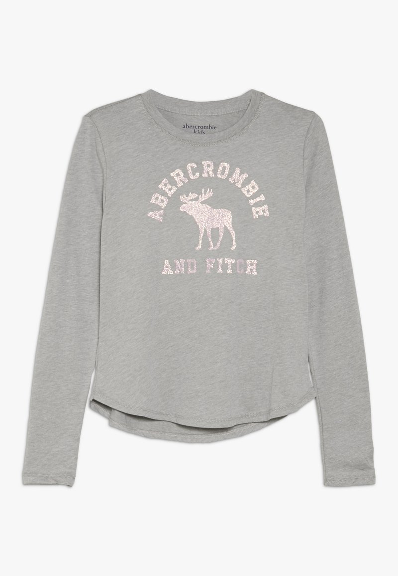 Abercrombie & Fitch - LOGO GRAPHIC - Long sleeved top - grey