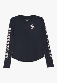 Abercrombie & Fitch - LOGO GRAPHIC - Long sleeved top - navy - 0