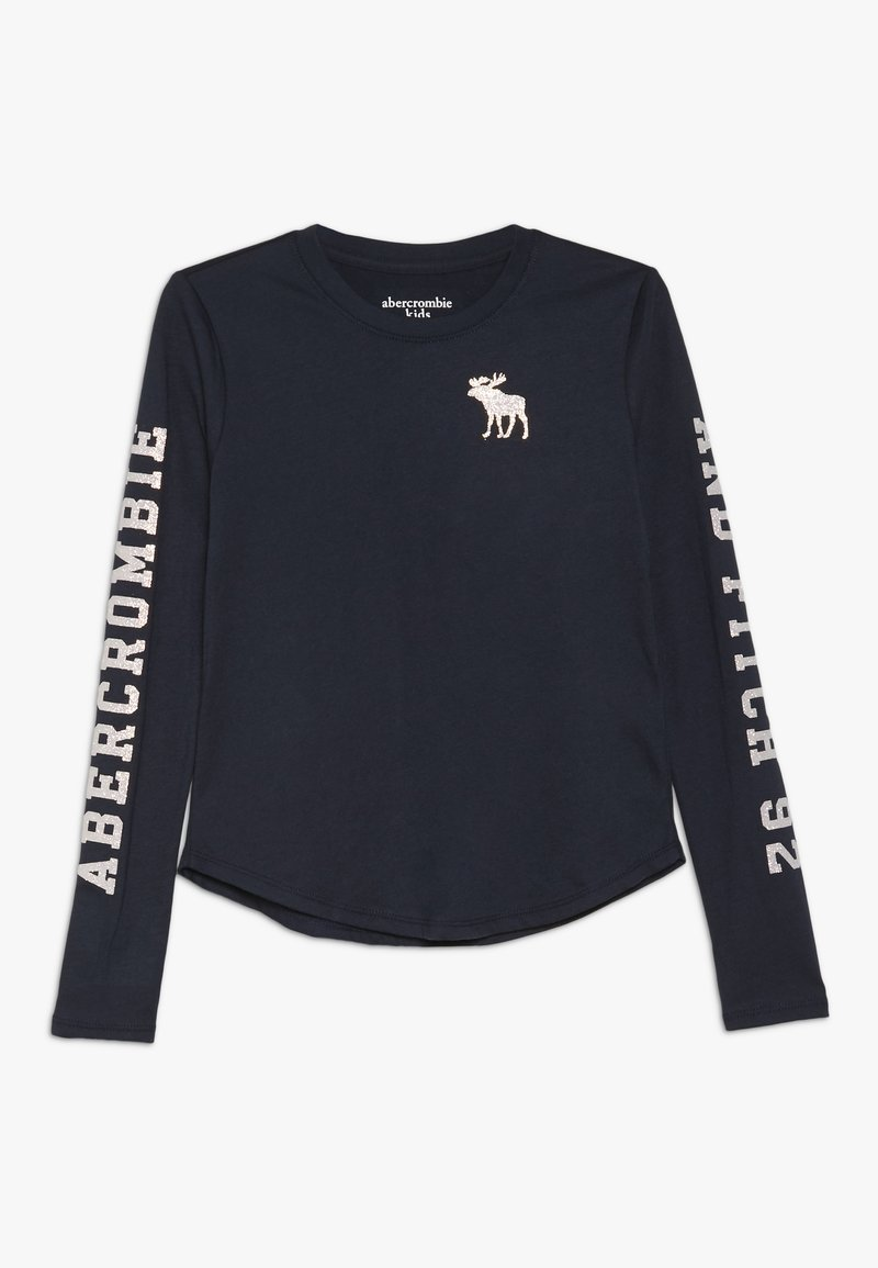 Abercrombie & Fitch - LOGO GRAPHIC - Long sleeved top - navy