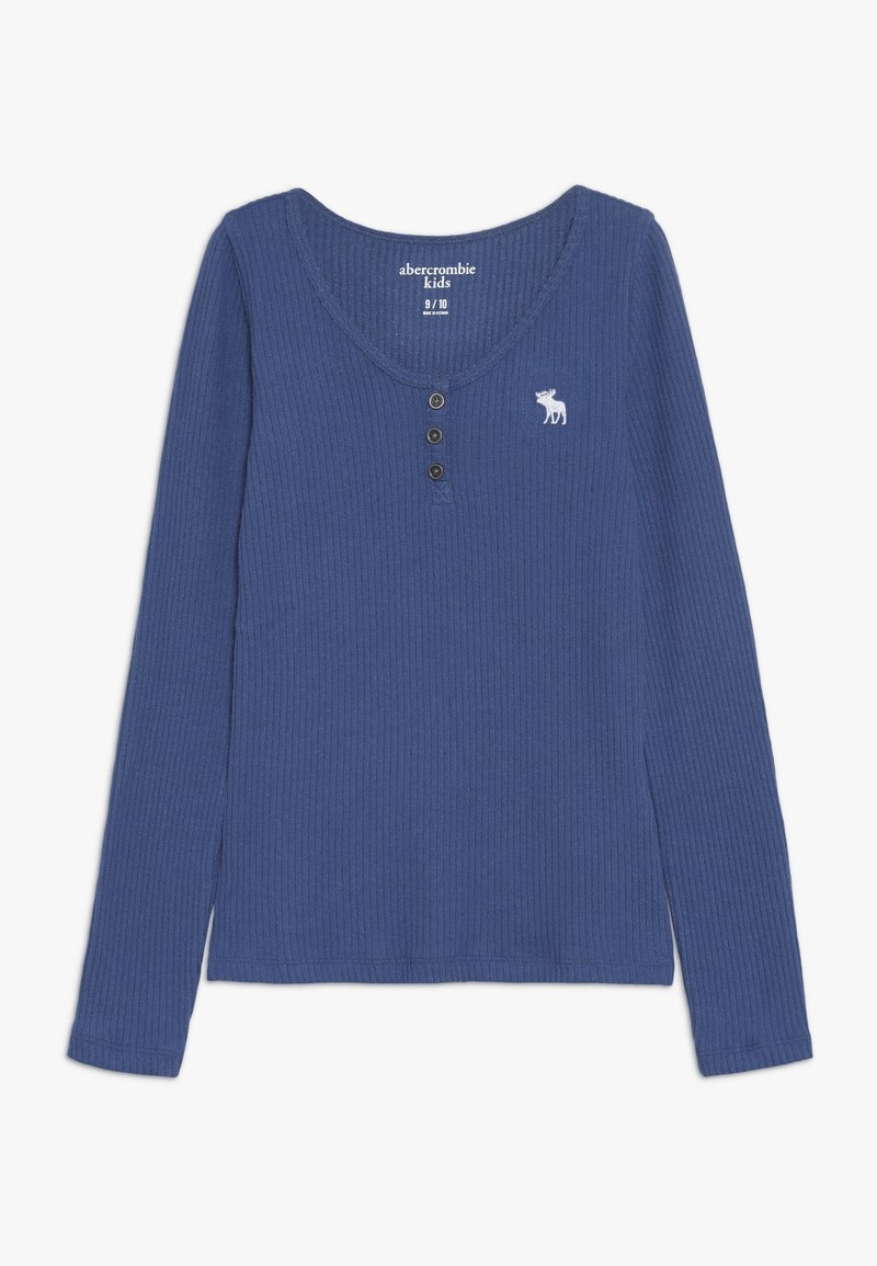 Abercrombie & Fitch - COZY HENLEY - Long sleeved top - blue