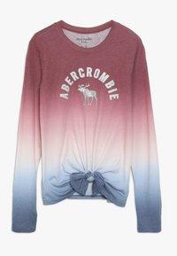 Abercrombie & Fitch - TECH CORE TIE FRONT  - Top sdlouhým rukávem - red/blue - 0