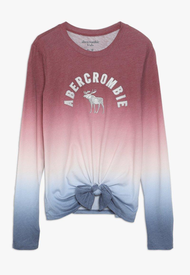 Abercrombie & Fitch - TECH CORE TIE FRONT  - Top sdlouhým rukávem - red/blue