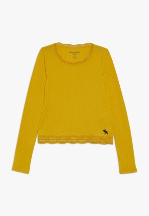 SLIM SCOOP  - Long sleeved top - golden rod
