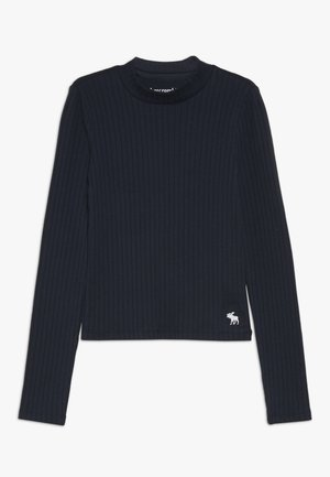 MOCK NECK - Long sleeved top - navy