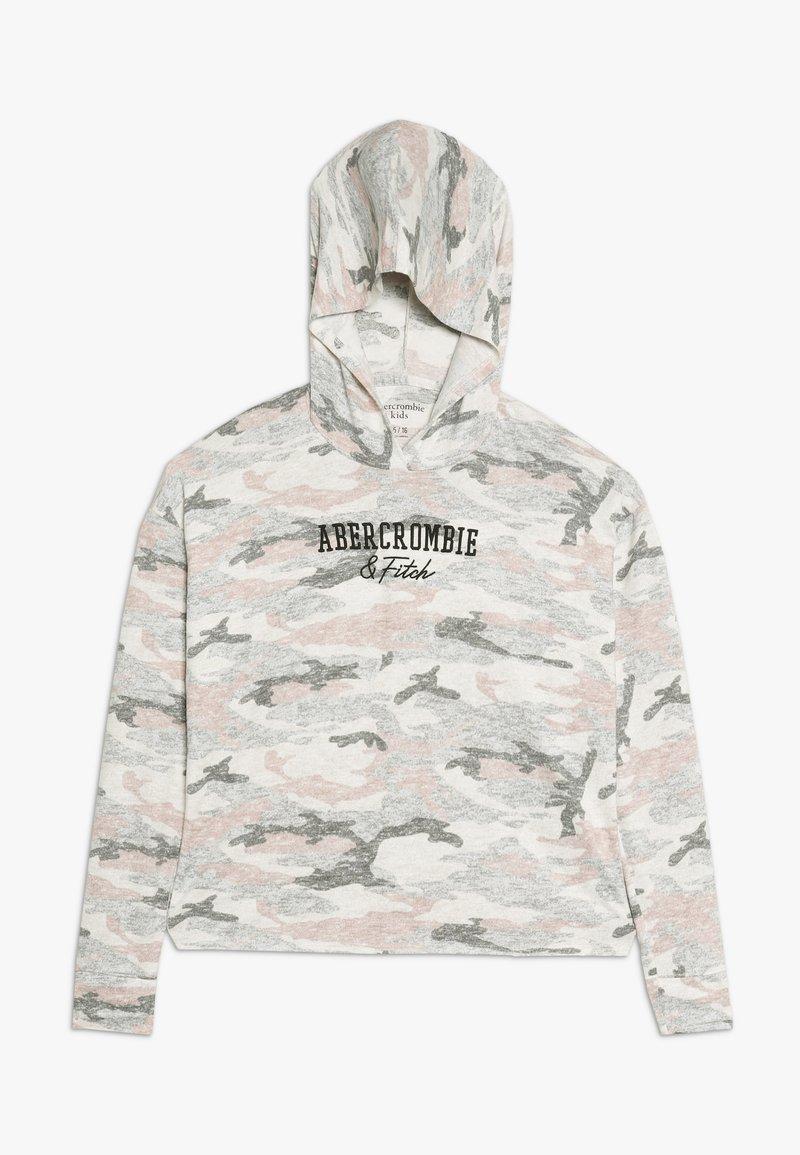 Abercrombie & Fitch - CUTE SPORTY HOOD  - Long sleeved top - light grey melange