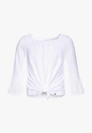 SLEEVE TIE FRONT - Långärmad tröja - white