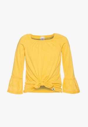 SLEEVE TIE FRONT - Topper langermet - yellow