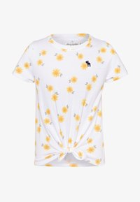 Abercrombie & Fitch - TIE FRONT - Printtipaita - white - 0