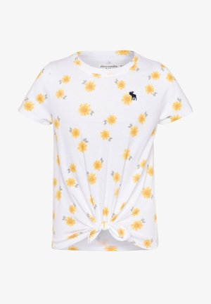 TIE FRONT - Print T-shirt - white
