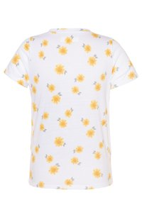 Abercrombie & Fitch - TIE FRONT - Printtipaita - white - 1