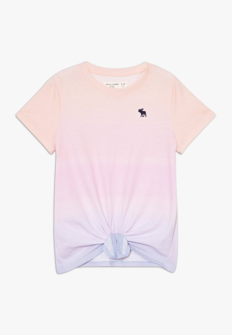 Abercrombie & Fitch - TIE FRONT - Triko s potiskem - light pink