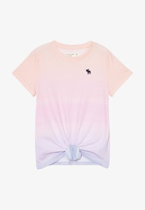 TIE FRONT - Print T-shirt - light pink