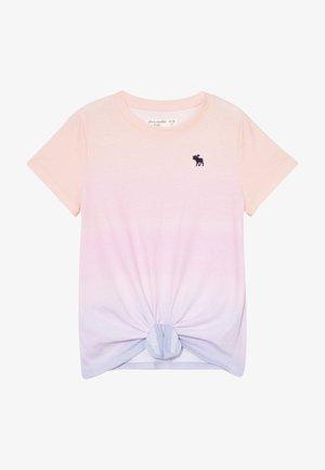 TIE FRONT - T-shirt imprimé - light pink