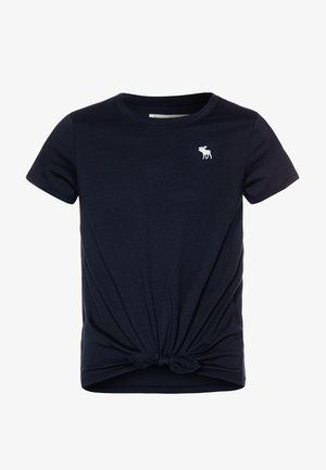 TIE FRONT  - Basic T-shirt - navy