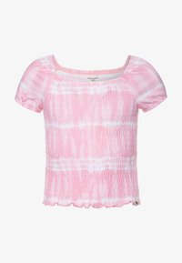 Abercrombie & Fitch - SMOCKED - Print T-shirt - pink - 0