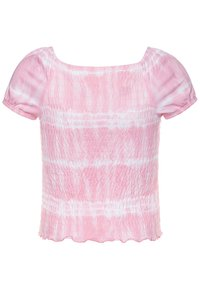 Abercrombie & Fitch - SMOCKED - Print T-shirt - pink - 1