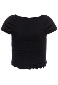Abercrombie & Fitch - SMOCKED - Print T-shirt - black - 1