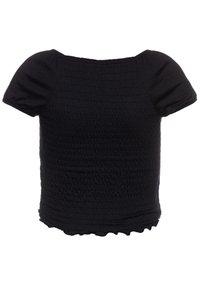 Abercrombie & Fitch - SMOCKED - T-shirt imprimé - black - 1