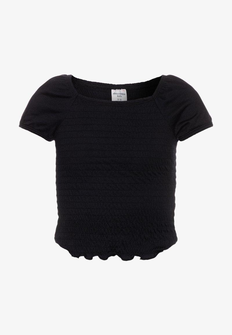 Abercrombie & Fitch - SMOCKED - T-shirt imprimé - black