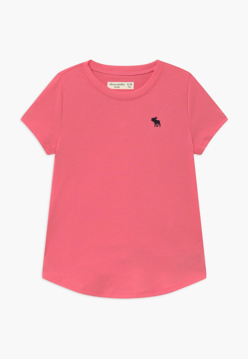 Abercrombie & Fitch - CURVED - Jednoduché triko - pink