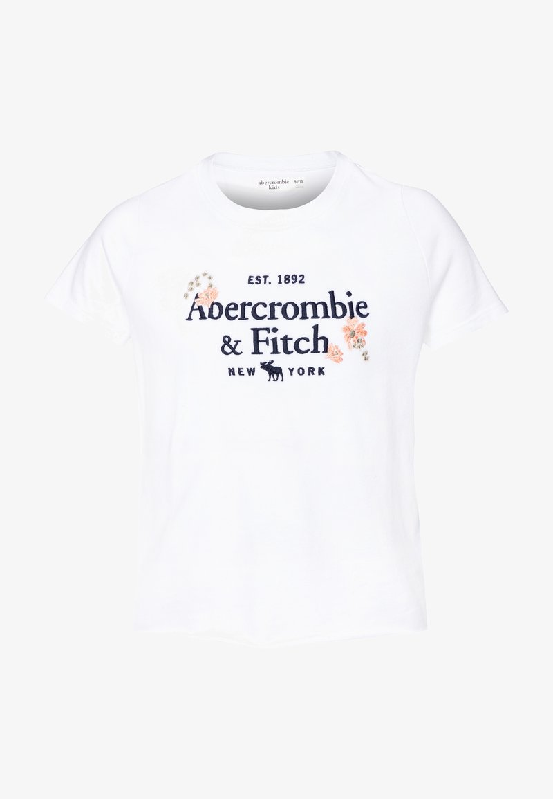 Abercrombie & Fitch - TECH CORE - T-shirt z nadrukiem - white