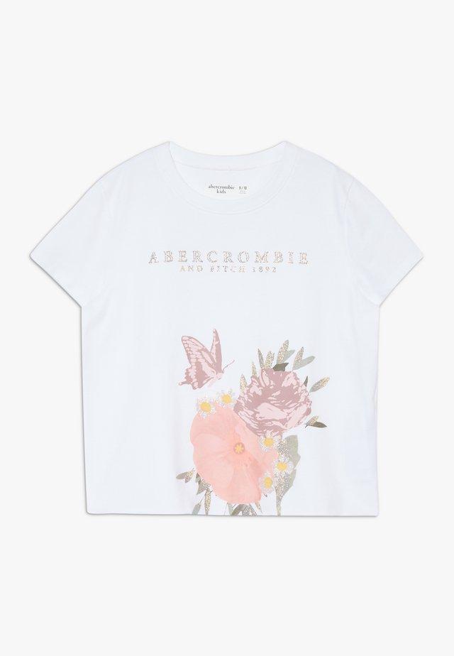 SHINE VACAY TEE - Print T-shirt - white