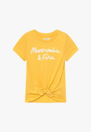 FASHION LOGO TEE - Print T-shirt - yellow