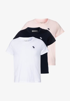 CORE CREW 3 PACK - Basic T-shirt - navy/pink/white