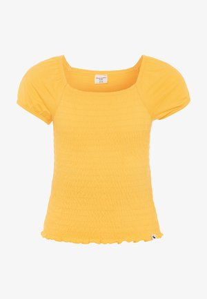SMOCKED UPDATE - Basic T-shirt - yellow
