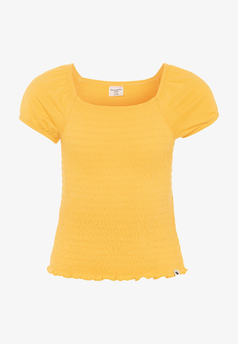 Abercrombie & Fitch - SMOCKED UPDATE - Basic T-shirt - yellow