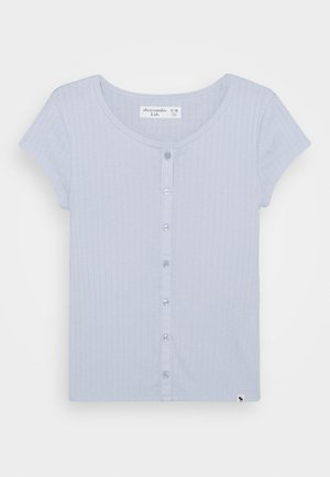 BUTTON TRHU - T-shirt basique - blue