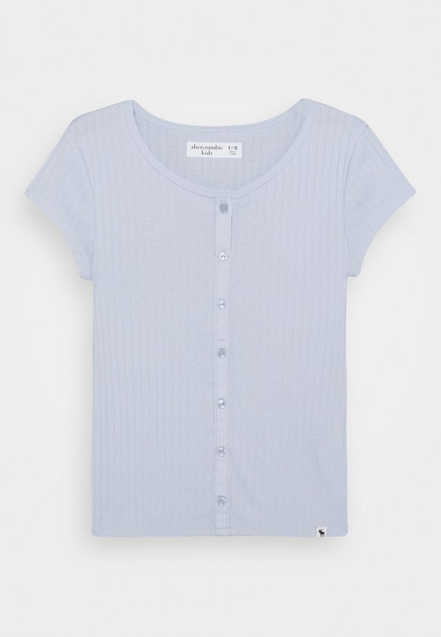 BUTTON TRHU - Basic T-shirt - blue