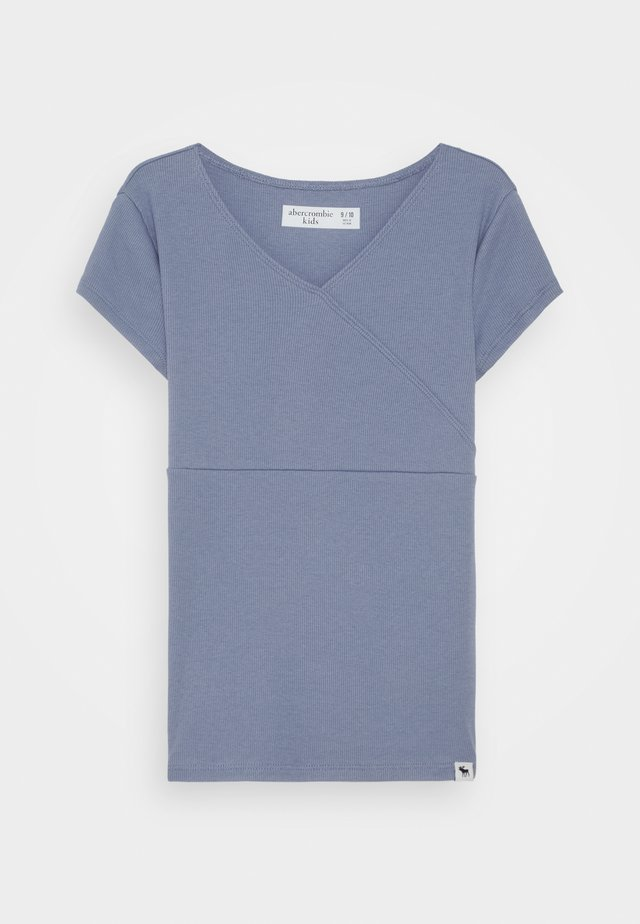 WRAP FRONT TEE - T-shirt con stampa - tempest